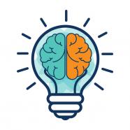 Brainstorm with lightbulb