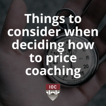 How to Price Coaching | Institute of Coaching