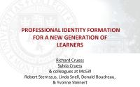 Professional Identity Formation - Powerpoint Slides