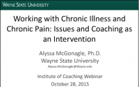 Working with Chronic Illness and Chronic Pain