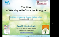 Webinar: The How of Working with Character Strengths