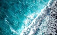 Frothy ocean waves