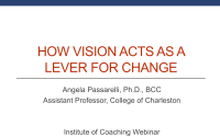 How Vision is a Lever for Change