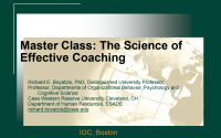 The Science of Effective Coaching